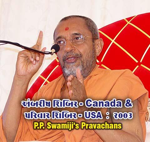Ambrish Shibir-Canada & Parivar Shibir-USA 2003